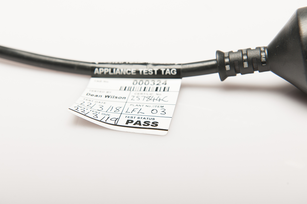 Electrical Appliance Test Tag